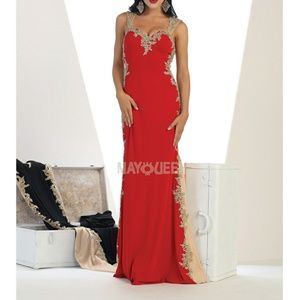 Fitted formal gown,evening party bridesmaid dress